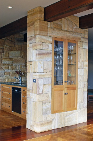 Display cupboard in stone