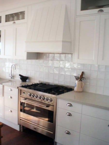 Belinda Slape kitchen stove and cabinetry