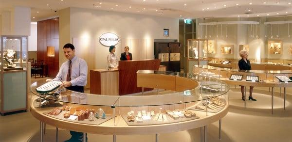 Opal Fields display cases