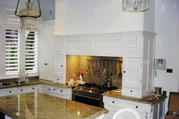 Mosman kitchen stove surrounded by cabinets